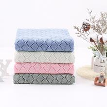 100 x 80 cm Hot Sale Baby Blanket Knitted Hollow For Boys Girls Windproof Cover Swaddle Blankets Newborn