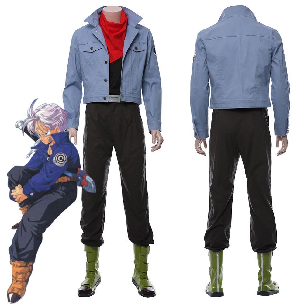 Anime Dragonball Z Dragon Ball Super Future Torankusu Trunks Cosplay Costume Shoes Boots Adult Men Halloween Costume Custom Made