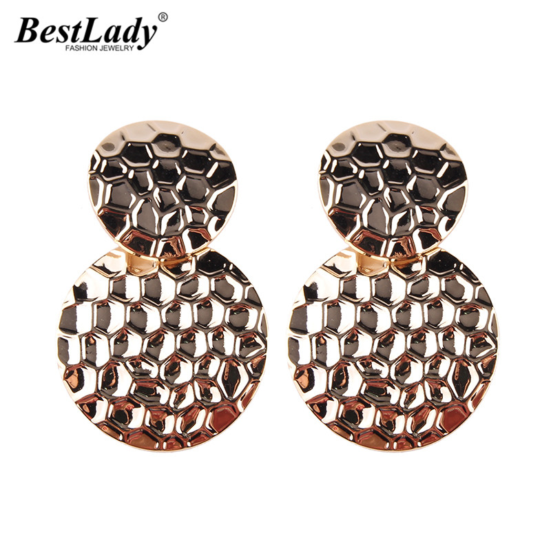 Best lady Special Design Metal Stud Earrings For Woman Trendy Wedding Party Gifts Statement Fashion Jewelry Travel Wholesale