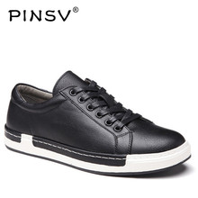 Size 38-46 Sneakers Men Shoes Casual Black Leather Shoes Men Footwear Spring Autumn Designer Shoes Luxury Brand PINSV