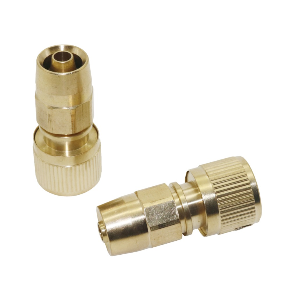 3/8 Inch Hose Copper Connectors With Lock Nut Expandable Retractable Car Wash Hose Connector Plumbing Pipe Fitting 1 Pc