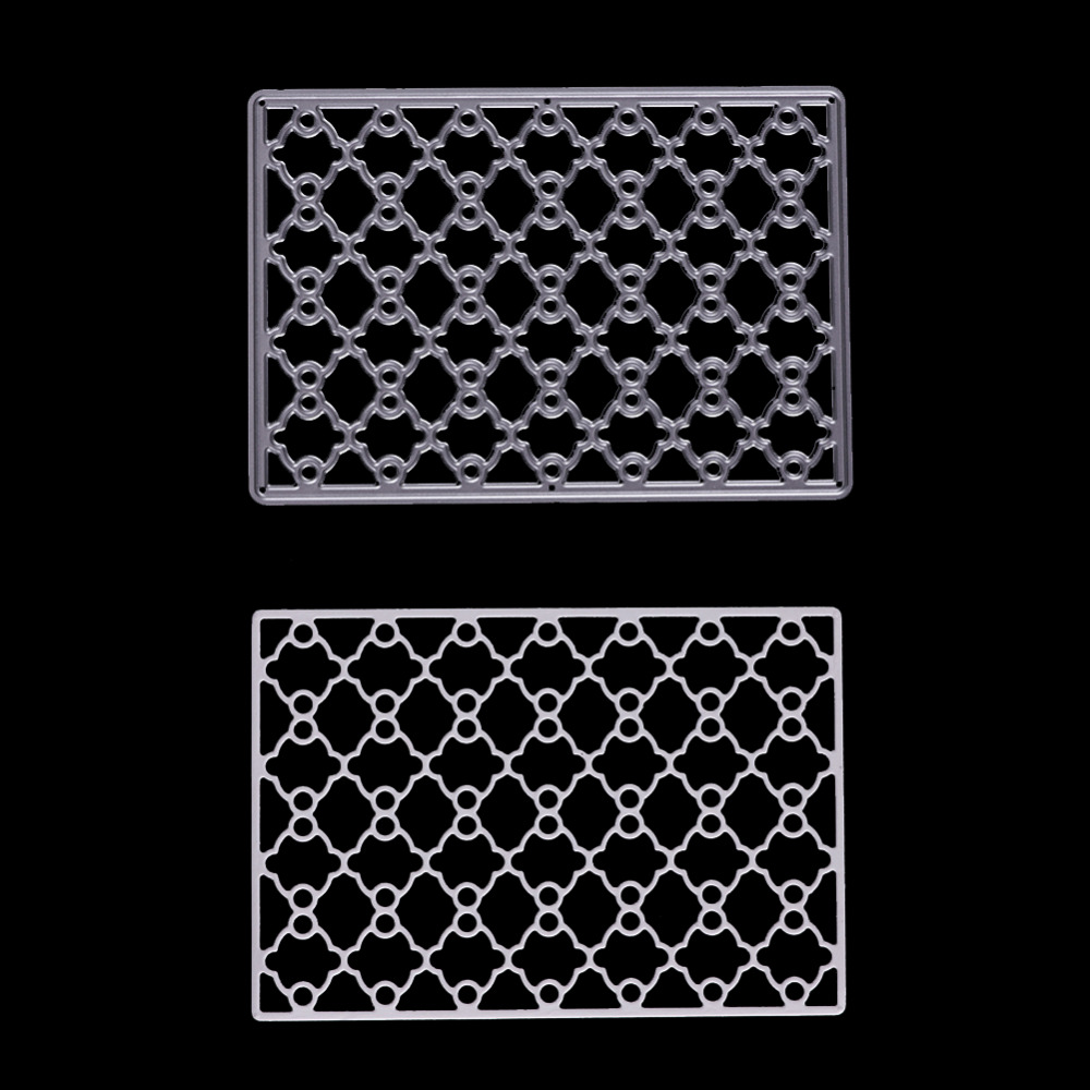 Metal Cutting Dies Stencil Hollow Fence Shape for DIY Scrapbooking ...