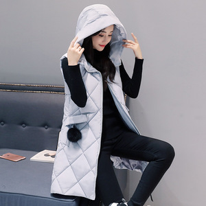 Image 2 - Womens Vests Winter Slim Hooded Women Vest Plus Size Coats Women 4XL Sleeveless Jackets And Coats Long Vest And Waistcoats Parka