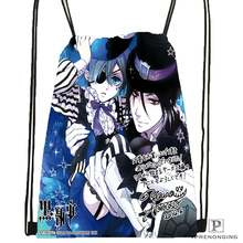 Custom Black Butler Anime  Drawstring Backpack Bag Cute Daypack Kids Satchel (Black Back) 31x40cm#180531-02-20