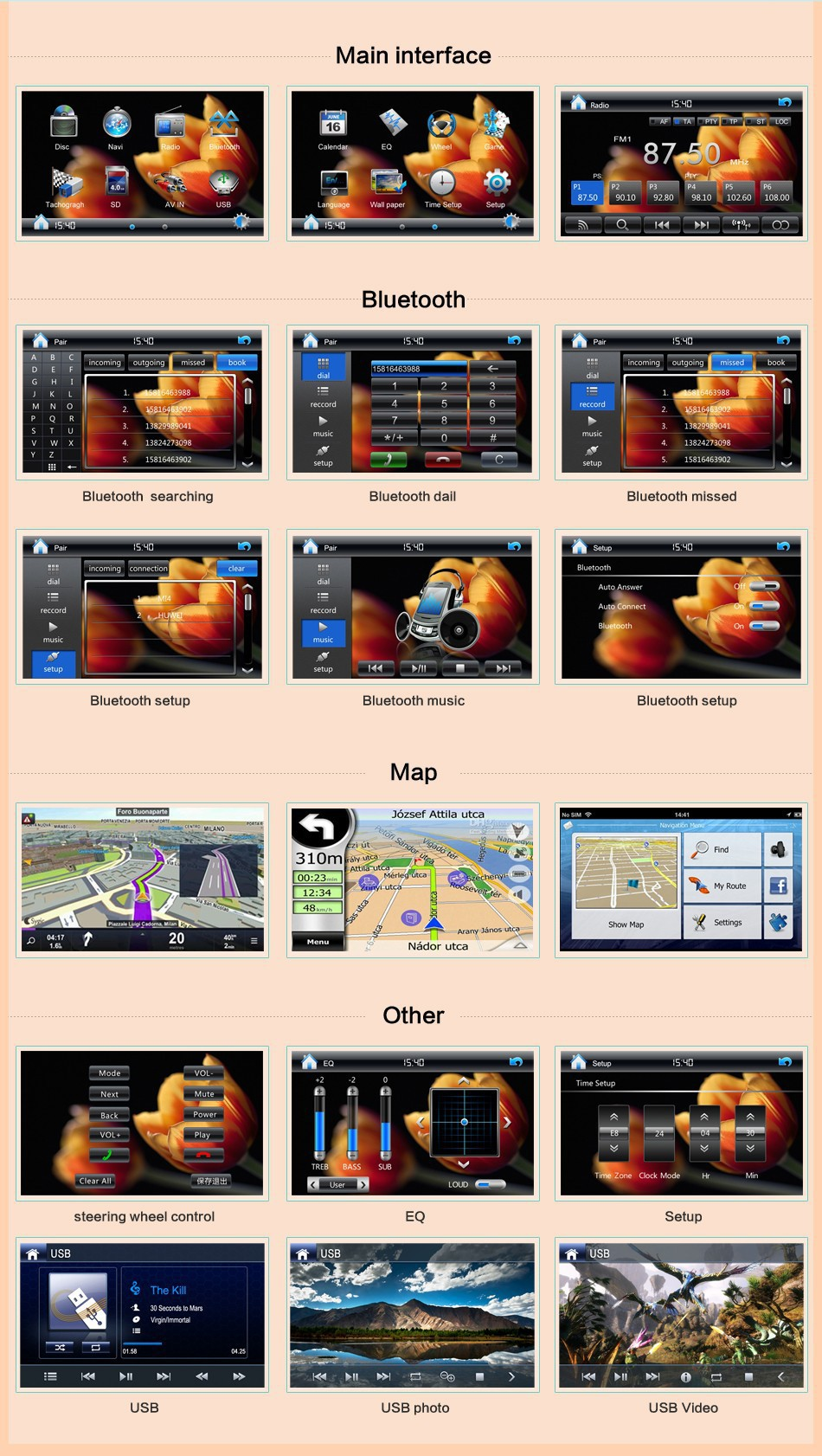 GPS voor Bosion universele 6