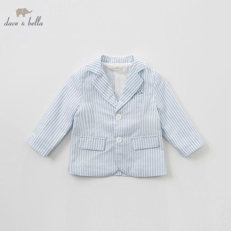 DB10174 dave bella spring baby boy turndown collar coat children wedding party birthday jacket little gentleman