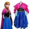 2016 горячая распродажа эльза Anaa девушки принцесса дети одеваются ну вечеринку фантазия Vestidos младенцы платья летний ребенок дети пользовательские платья