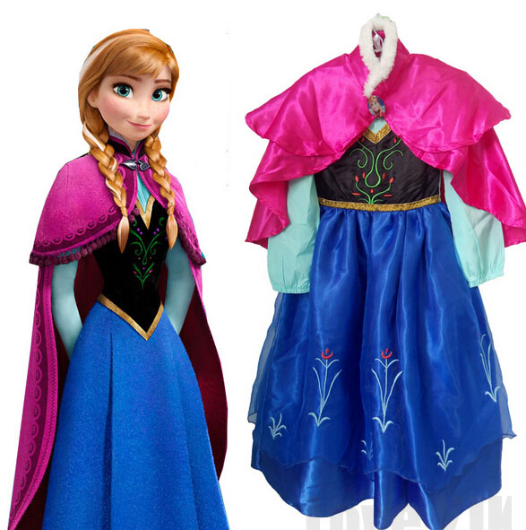 2018 Hot Sell Elsa Anna Girls Princess Children Dress Party Fantasia Vestidos Infants Dresses Summer Baby Kids Custom Dresses hot 2017 summer girl fashion elsa anna dress children clothing girls princess elsa anna party dresses baby kids clothes vestidos