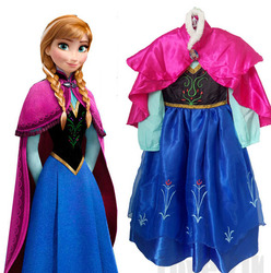 2018 Hot Sell Elsa Anna Girls Princess Children Dress Party Fantasia Vestidos Infants Dresses Summer Baby Kids Custom Dresses