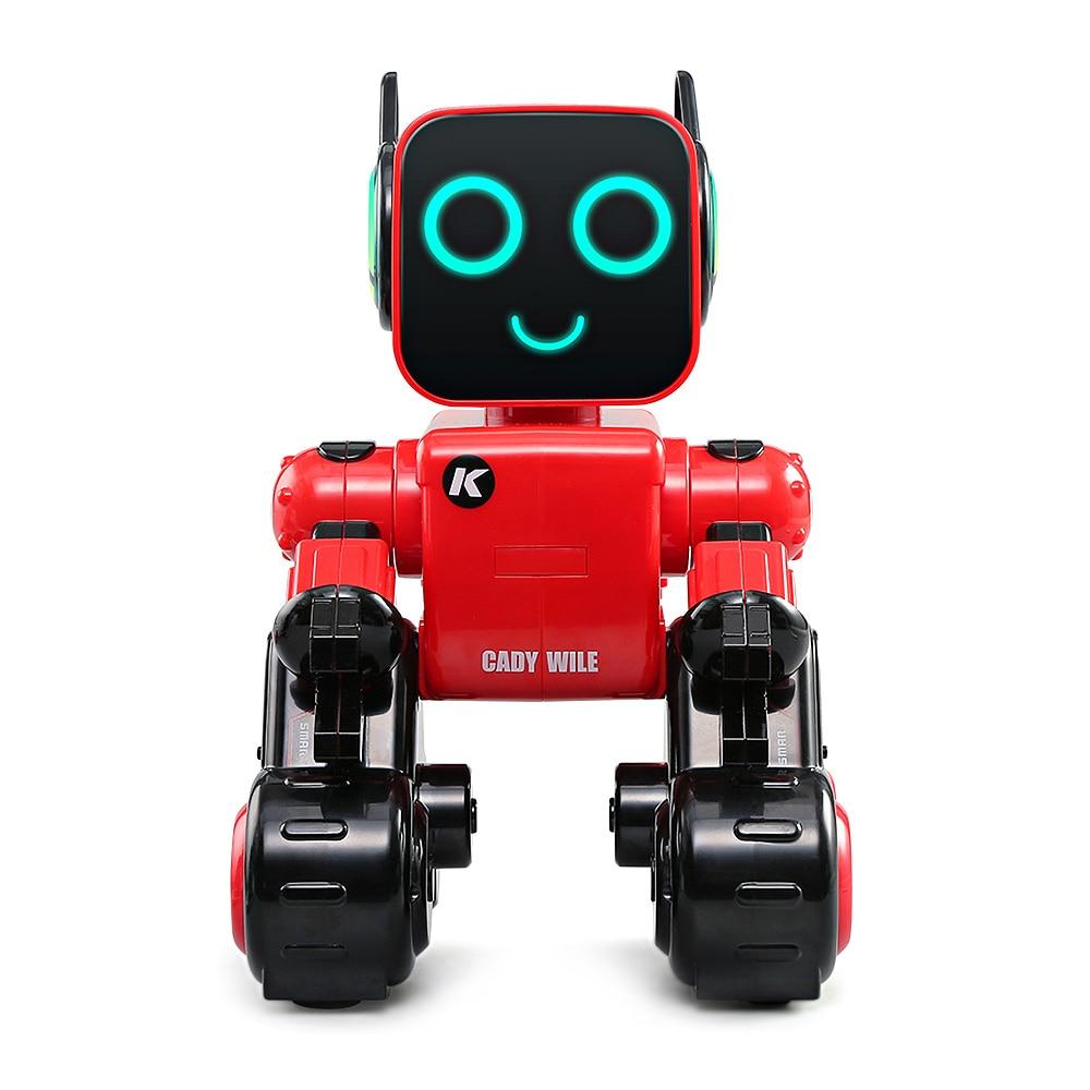JJRC R4 Voice-Activated Intelligent RC Robot Smart Electric Robot For Kids Smart Intelligent Programmable Remote Control Robot jjrc r3 rc robot toys intelligent programming dancing gesture sensor control for children kids f22483 f22483