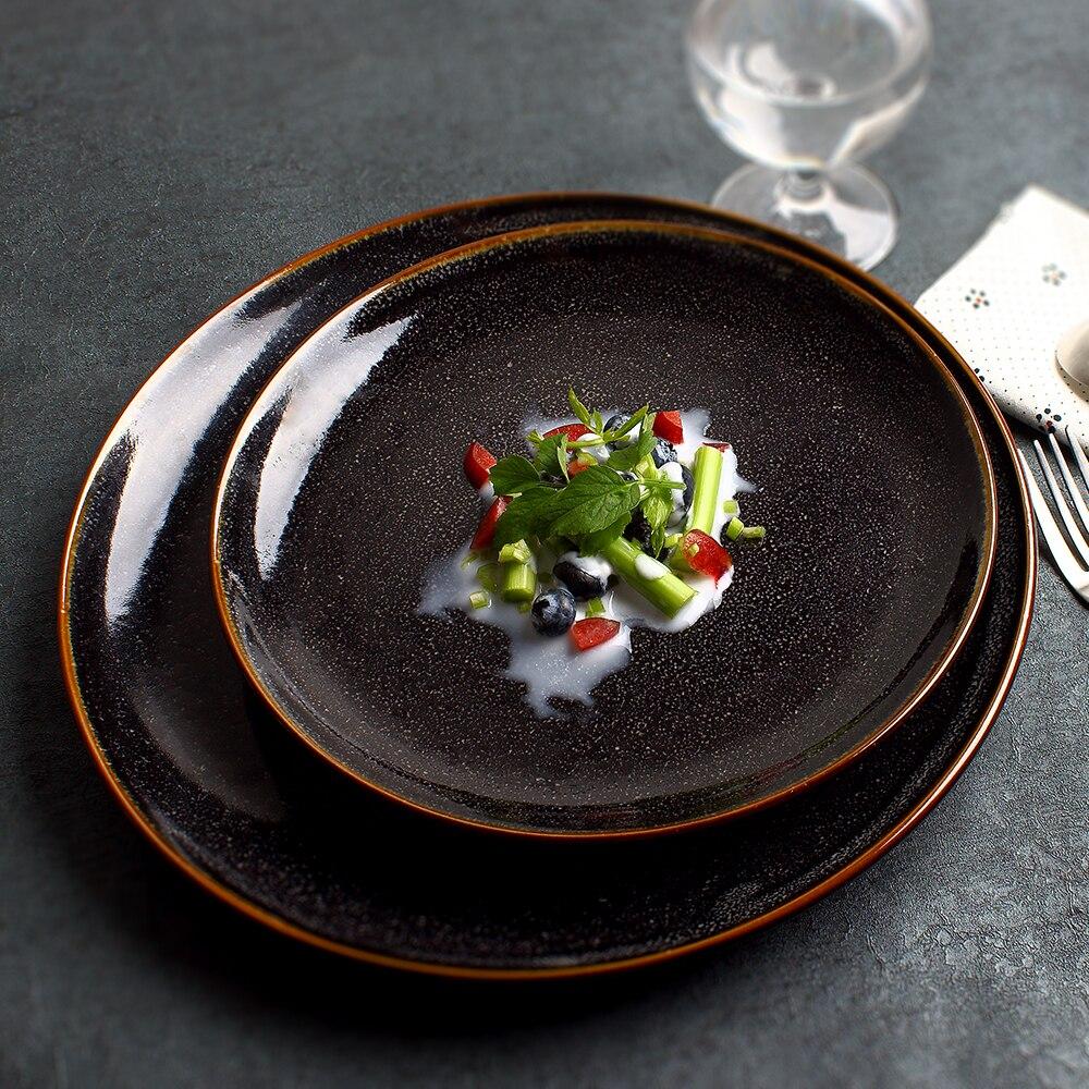 Western Salad Dishes: Nordic Creative Tableware Ceramic Plate Home Dish Salad