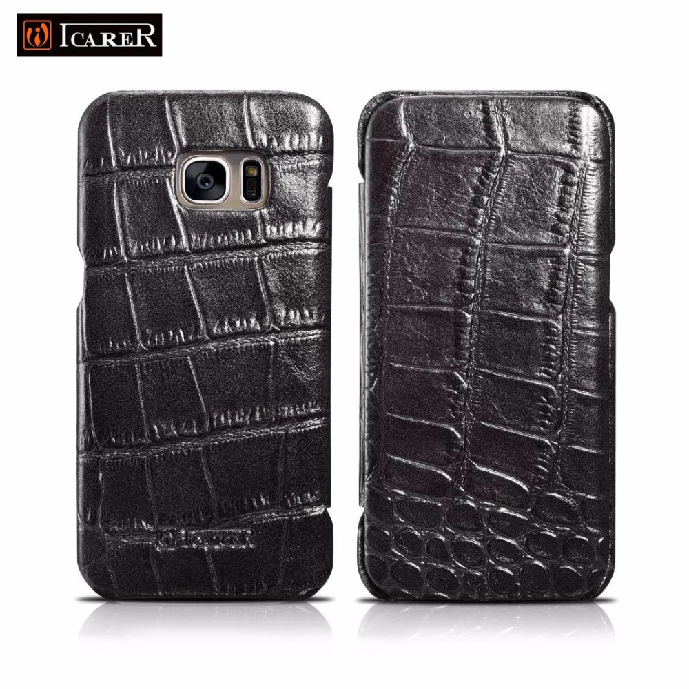 Luxury Crocodile pattern Genuine Leather <font><b>case</b></font> for Samsung Galaxy <font><b>S7</b></font> <font><b>S7</b></font> <font><b>edge</b></font> <font><b>flip</b></font> cover <font><b>case</b></font> <font><b>phone</b></font> funda