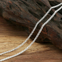Hot Sale 2mm Bicyclic Buckle Necklace Vintage Chain 100 925 Sterling Silver Fashion Jewelry Necklace Women