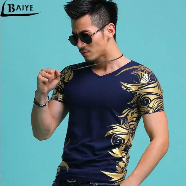 Mens Casual T Shirts O-neck Black Gold Bronzing Angel Wings Cross 3d Print Men's Short Sleeve Slim Men T-Shirts Tops Tee
