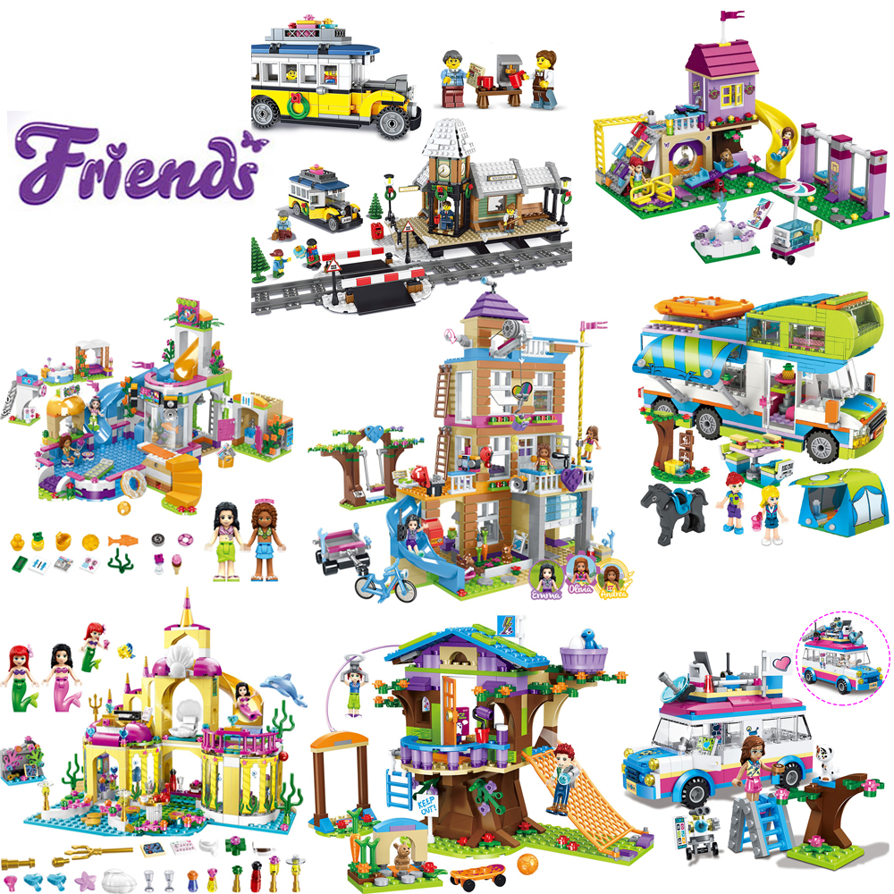 Girls Friends Series Building Blocks House Castle Compatible With Legoinglys Bricks Model Figures Birthday Toys For Children