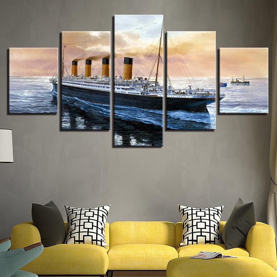 Titanic Ship Large Canvas Picture Black /& White Home Decor Nautical  Nice Gift