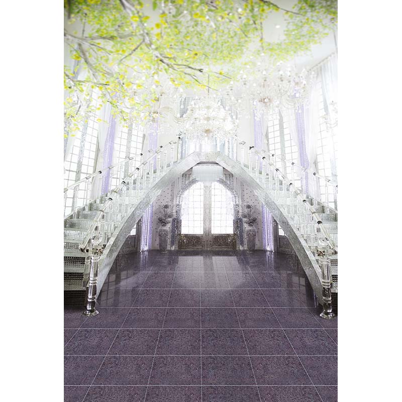 Customize vinyl cloth print 3 D fantasy glass palace wallpaper photo studio background for wedding photography backdrops CM-7187 customize vinyl cloth print 3 d night city scenery wallpaper photo studio background for portrait photography backdrops cm 5883