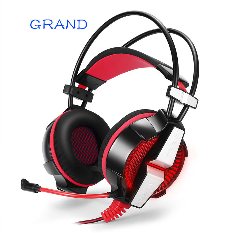 GS700 3.5mm Gaming Headset Headphone Earphone Headband with Mic Stereo Bass LED Light for PS4 PC Computer Laptop Mobile Phone
