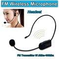 Lo nuevo De Alta Fidelidad FM Auriculares Con Micrófono Inalámbrico Megáfono de Radio Mic Para El Altavoz Reunión Enseñanza Guía Microfones