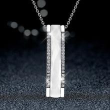 Black Ceramic Rectangle Pendant Necklace