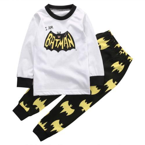 Toddler Kids Baby Boy Girl Christmas Cartoon Pajamas PJs Sets Xmas Sleepwear Nightwear Size 3-8T