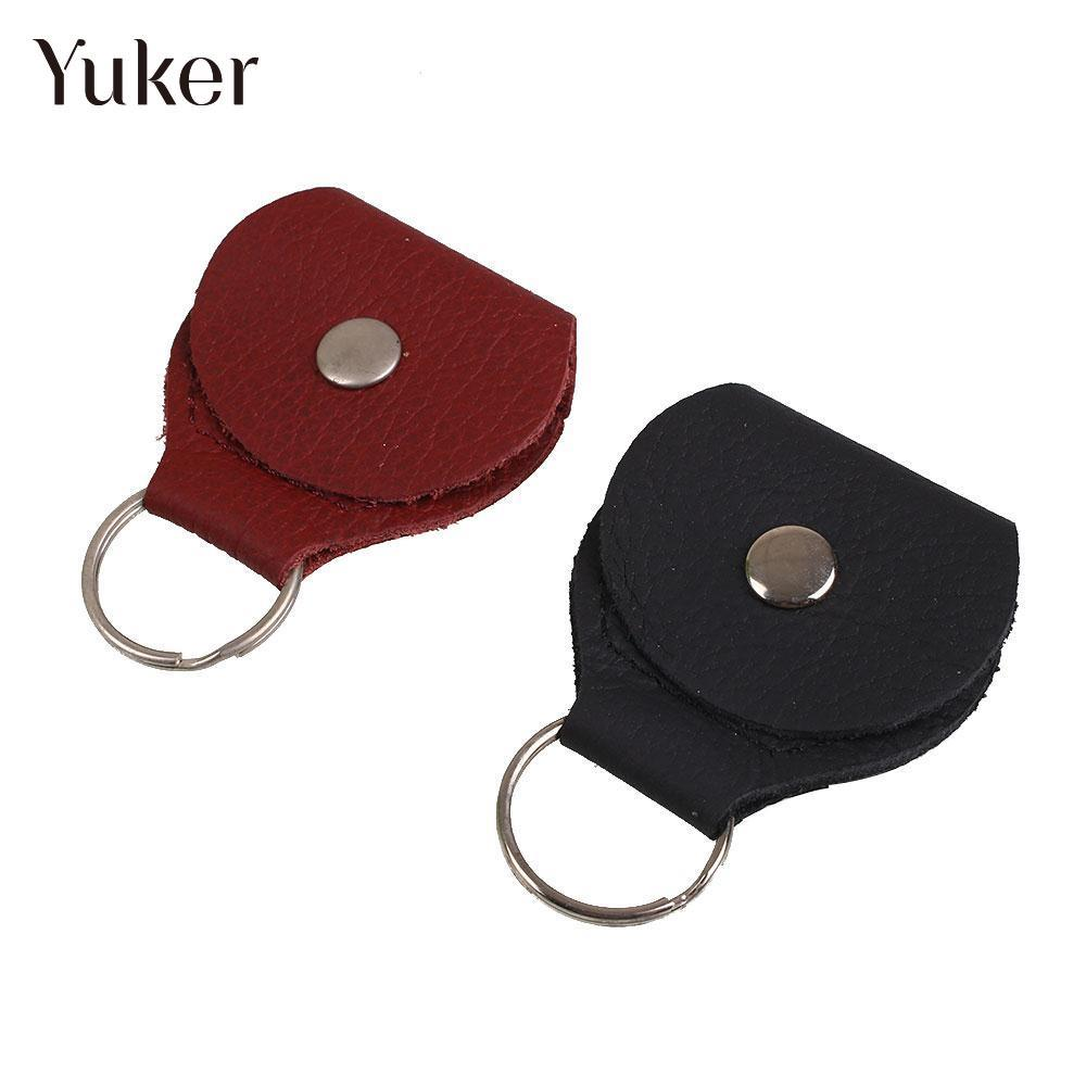 Yuker Leather & Metal Electric Guitar Pick Holder Plectrum Case Bag Guitar Parts Accessories allen roth brinkley handsome oil rubbed bronze metal toothbrush holder