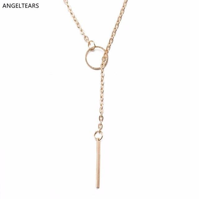 Wholesale Cheap Rose Gold Color Geometric Shape Pendant Necklace