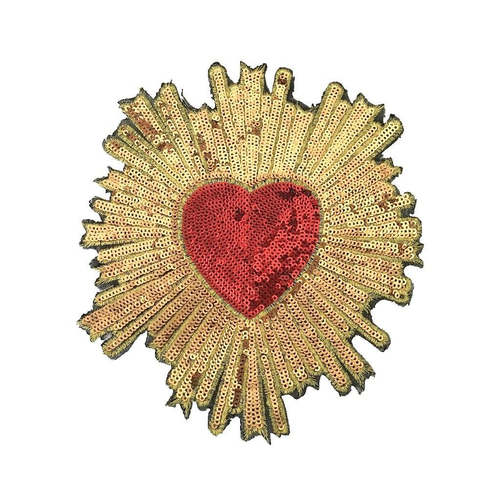 1 Pc Nieuwe Collectie Pailletten Hearted Patches Voor Kleding 3d Hart Lovertjes Patch Diy Decoratie Applicaties Iron Op Pailetten Patch