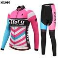 MILOTO צוות Ropa Ciclismo Pro נשים ארוכת שרוול סתיו רכיבה על אופניים ספורט בגדי אופני ביב מכנסיים סטי S 4XL-בסטים לרכיבה על אופניים מתוך ספורט ובידור באתר