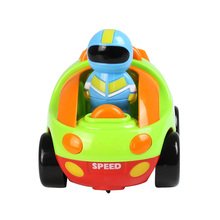Wireless Remote Control Children Cartoon Car With Light Music Vehicle Toy 2 Channels Electric Radio Control Bright Colorful Gift rc cartoon race car with music and lights electric radio control toy for baby toddlers kids and children control cops