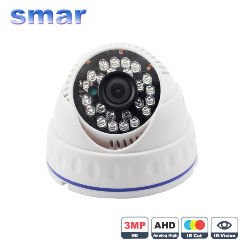 smar Official Store Smar Super HD 3MP 4MP AHD Камеры 24 ИК-ПОДСВЕТКОЙ Ночного Видения купольная Камера Видеонаблюдения ИК-Фильтр должен работать с 4MP 3MP AHD DVR