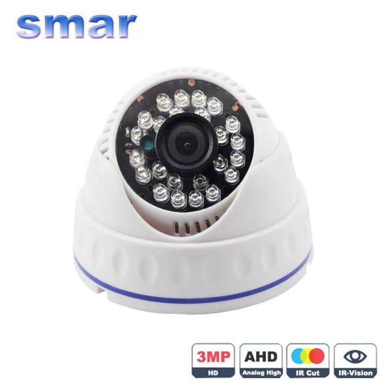 imágenes para Smar Super HD 3MP $ NUMBER MP AHD Cámara 24 IR LED de Visión Nocturna Cámara de Vigilancia domo IR Filtro de CORTE debe trabajar con 3MP $ NUMBER MP AHD DVR