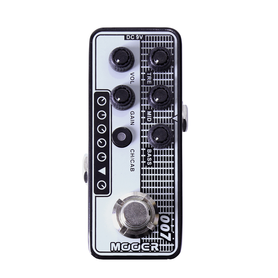 MOOER 007 Regal Tone Digital Preamp electric guitar pedal High quality dual channel preamp Independent 3 band EQ mooer 001 gas station digital preamp electric guitar pedal high quality dual channel preamp independent 3 band eq