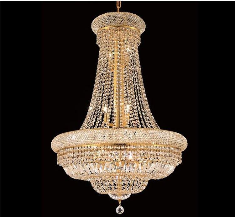 Phube Illuminazione Impero Francese Oro Lampadario di Cristallo Cromo Lampadari Illuminazione Lampadari Moderni Luce + Trasporto libero!