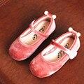 WENDYWU 2017 весна осень девочка марка перл принцесса обуви для детей плоским искусственная кожа малышей мода танец мэри джейн розовый