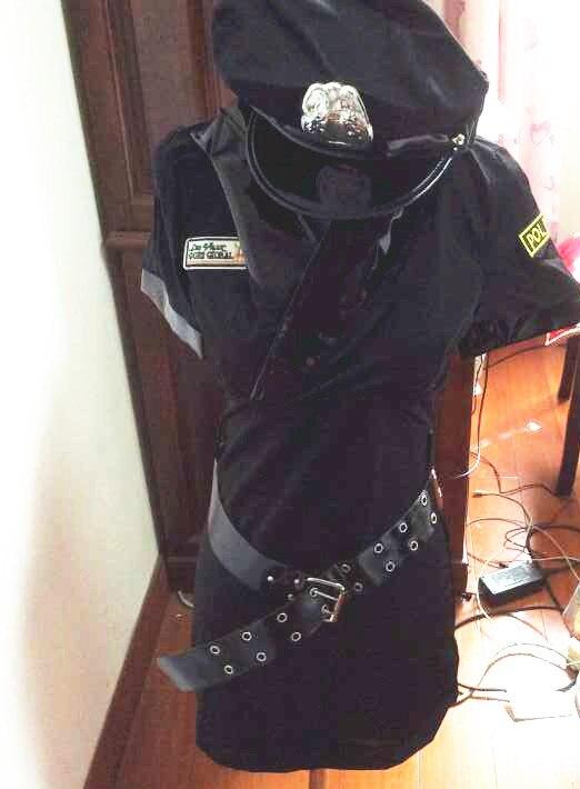 Police women Costume Cosplay Halloween hot selling praty show women Fantasia Fancy DressWomen Black Sexy Police