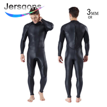 Jersqons Men 3mm High Quality CR Neoprene Wetsuit Swimsuits Swimming Suit Surfing Swimwear