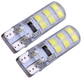10pcs T10 W5W 5050 smd12 led Red Fog Light CANBUS No Warning Error Car Interior Bulb Waterproof Car Crystal Lamp Yellow White