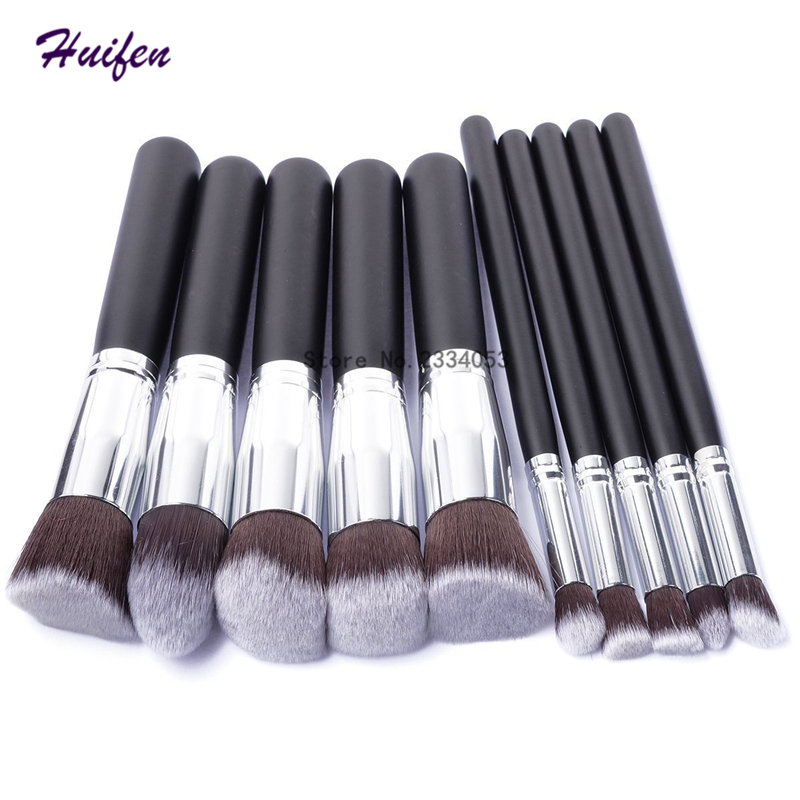 10pcs Mini Makeup Brushes Set Foundation Powder Eyeshadow Blusher Cosmetic Tools Kit Pro Women Make up Brush (YP0121) lcbox professional 40pcs cosmetic makeup brushes set blusher eyeshadow powder foundation eyebrow lip make up brush with bag