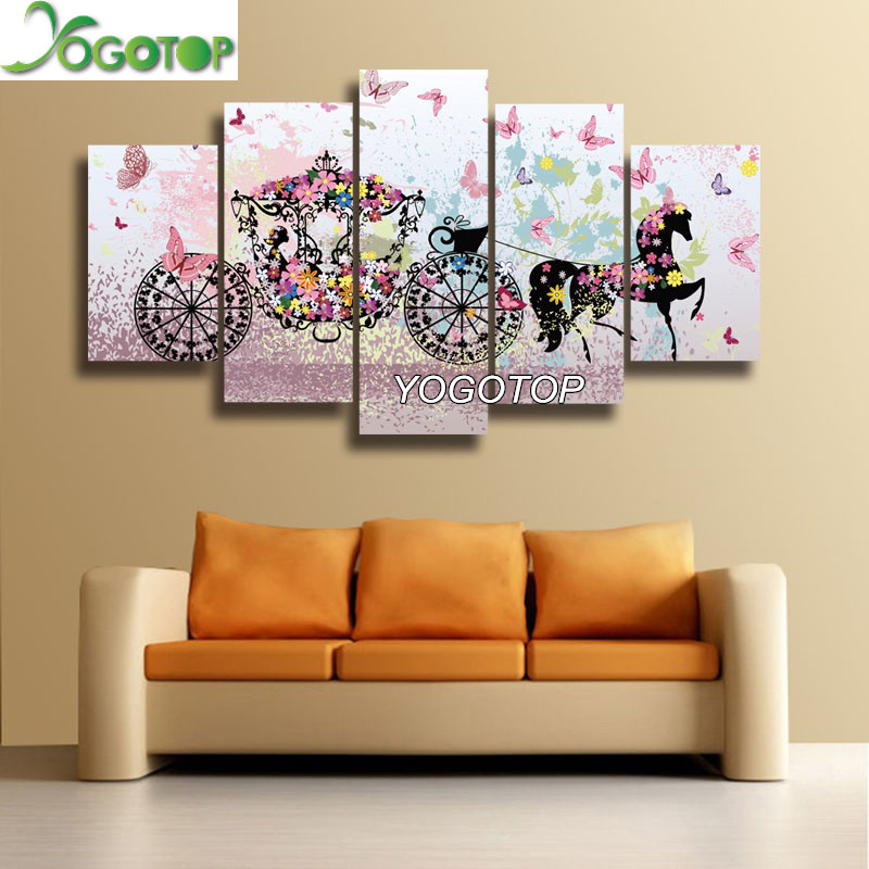 5D Round Diamond Tiger Stick Drill Painting Living Room Decorative Stickers AG