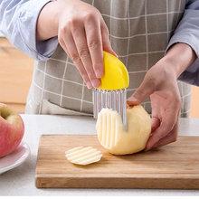 Cortador ondulado de patatas fritas arrugadas, ensalada de patatas fritas, cortador corrugado, cortador de patatas picadas, cuchillo, utensilios de cocina