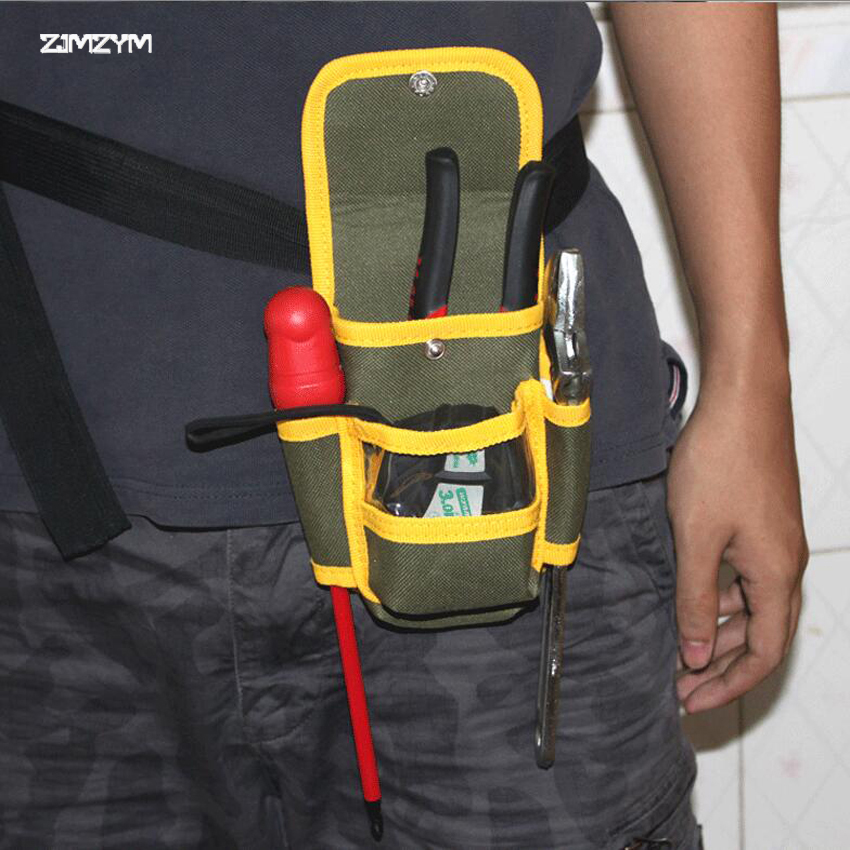 1PC Multifunctional Electrician Tool Bag Waterproof Oxford Cloth Tools Kit Pockets  Waist Belt Repair Pouch Pocket Tool