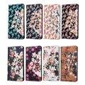 Dama Amor Colorido 3D Flora Flores Caja de Protección Completa para LG K8 Ranura Para Tarjeta de LA PU Del Tirón Del Cuero de Lujo de Bling Cubierta Del Soporte de la Carpeta