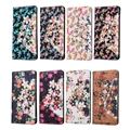 Lady Love Colorful 3D Flora Flowers Full Protective Case for LG K8 Luxury Bling Card Slot PU Leather Flip Stand Cover Wallet