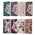 Senhora Amor Colorido 3D Flora Flores Caixa de Proteção Completa para LG K8 Luxo Bling Slot Para Cartão PU LEATHER Flip Tampa do Suporte Wallet