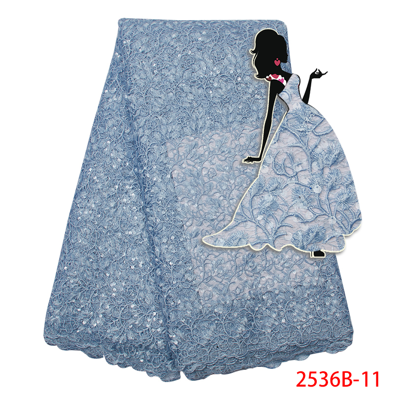 Latest French Net Lace Fabric,African Organza Lace Fabric High Quality, Nigerian Tulle Lace For Wedding DressKS2536B-11
