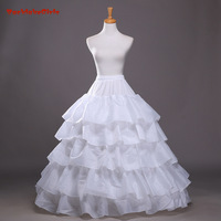 White 4 Hoops 5 Layers Ball Gown Wedding Bridal Petticoat Underskirt Crinolines Wedding Dress Accessories