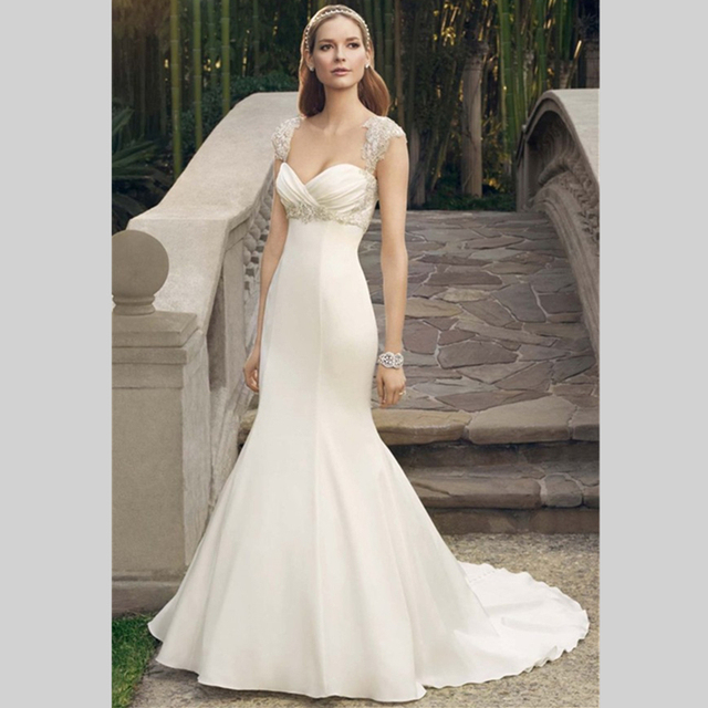 2015 Superior Spaghetti Straps Corset Wedding Dress With Beaded
