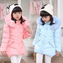 Детские Девушки Зимнее Пальто Куртки детей во всех новых детей зимой толстые куртки