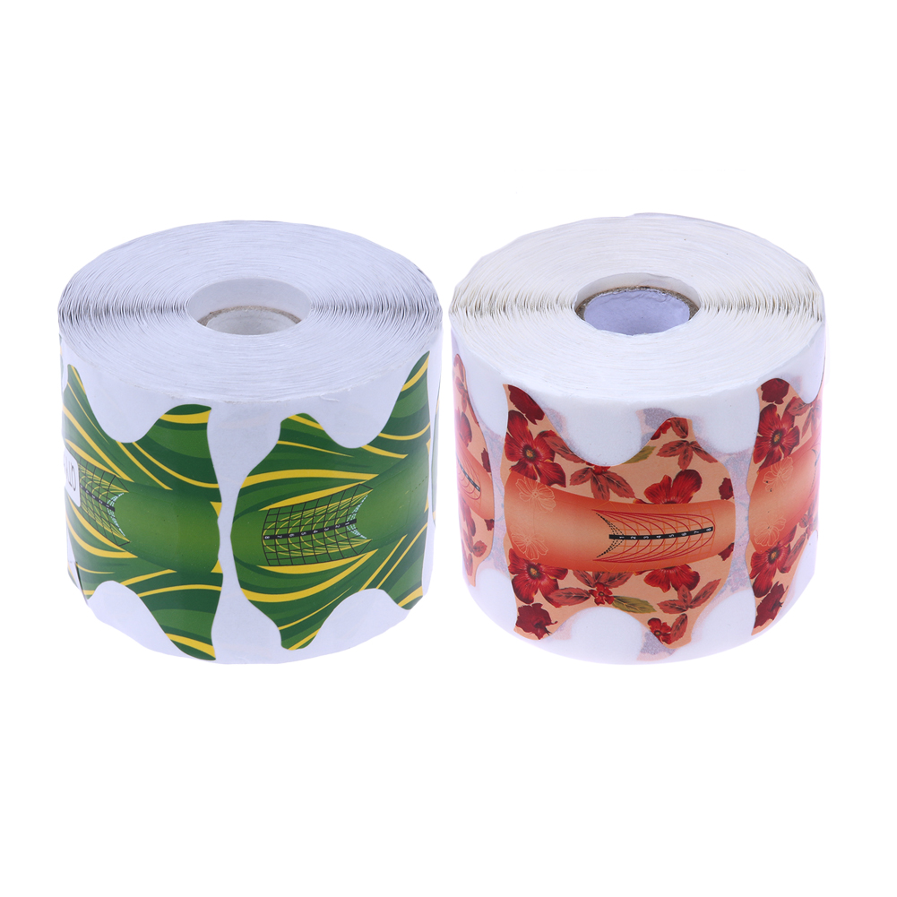 500Pcs/Roll Butterfly Shape Nail Art Form Professional DIY Manicure Tips Extension UV Gel Sticker Guide Nail Forms Nail Tools